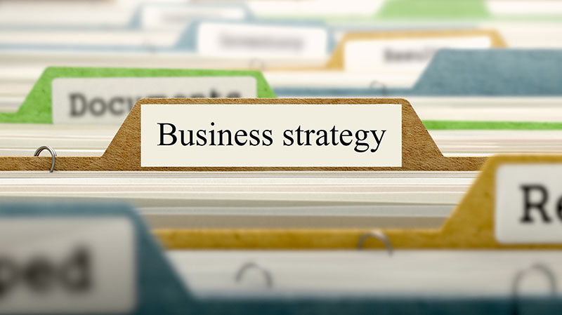 Simple business strategy template for startup businesses