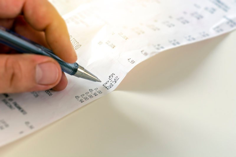 How to scan receipts, record expense transactions and track expenses in accounting journal