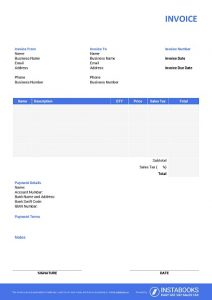 Download Free Invoice Templates Instabooks