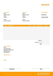 Online Excel invoice template with terms 2/10 net 30, automatic invoice numbering, logo, bank details, discount, tax calculation formula, signature